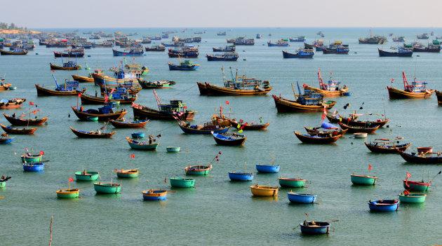 kleurige bootjes