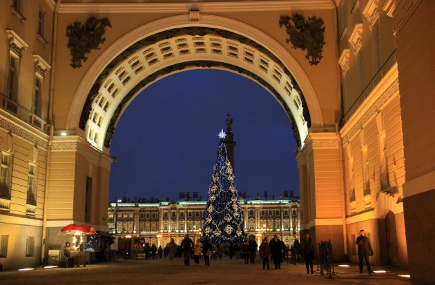 Naar het paleis plein