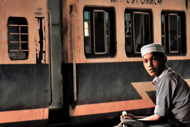 Op een station in Goa