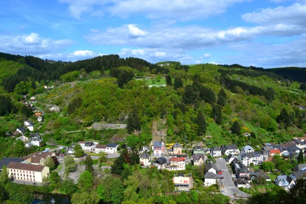 Uitzicht vanuit een kasteel