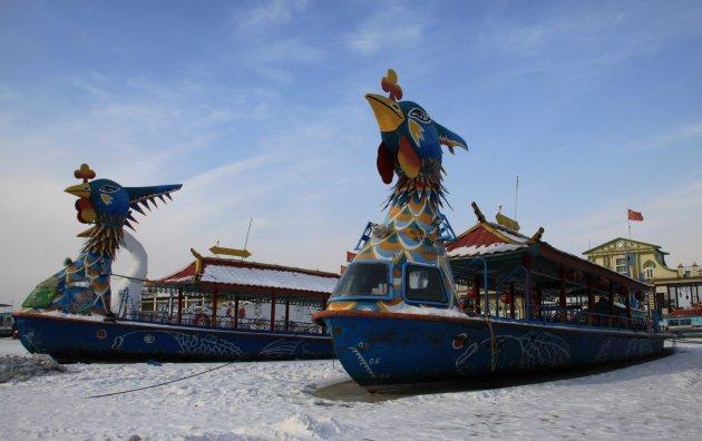 Boten op de Songhua