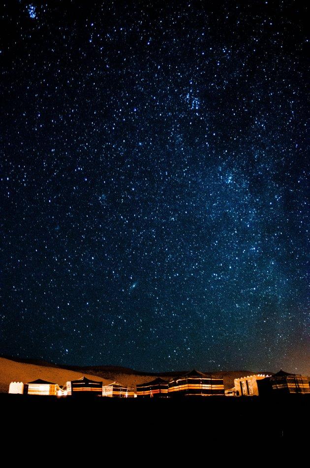 Melkweg in de woestijn
