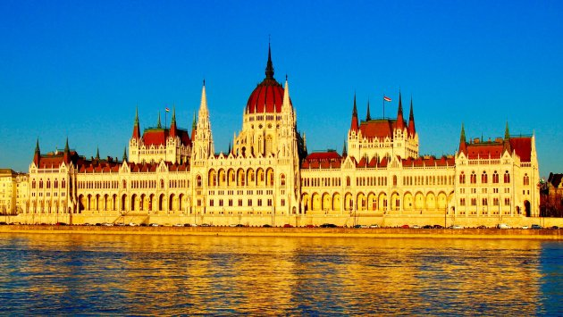 Gebouw aan de Donauw