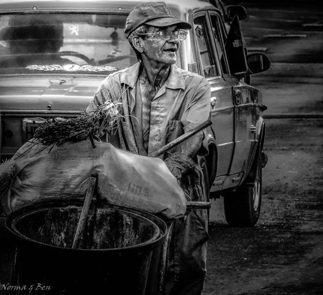 Portret van een schoonmaker