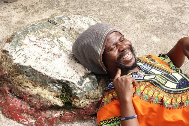 Sfeer van Bob Marley, met zijn kussen...