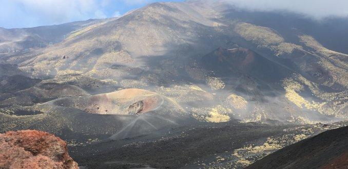 Kleurenpalet op de Etna