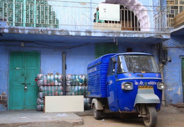 Struinen door de blauwe straatjes van Jodhpur
