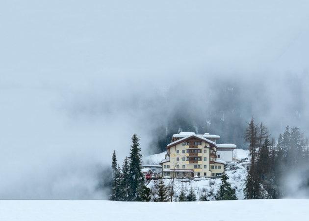 Mist in de Alpen