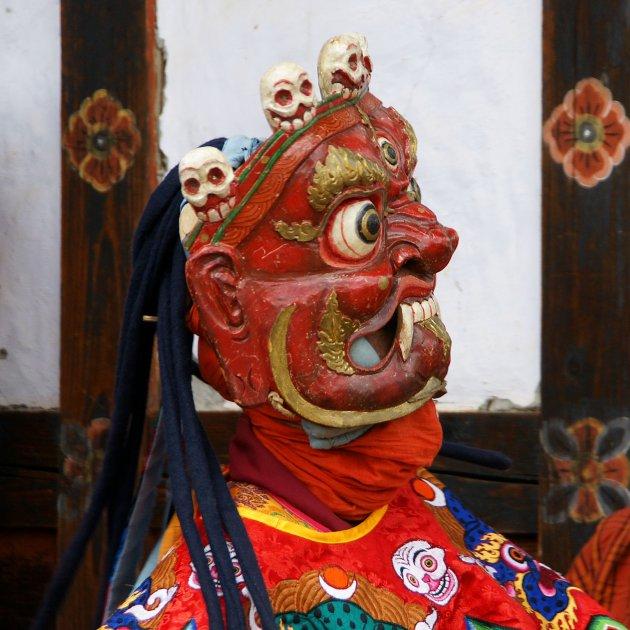Heilige maskerdans in Bhutan, een unieke belevenis