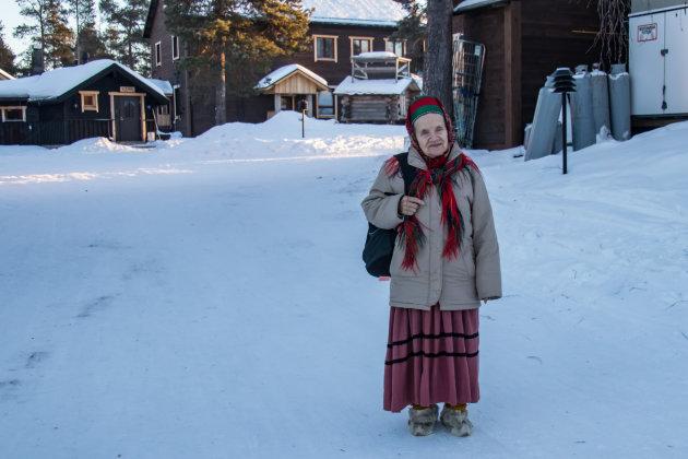 Oude skolt-sami vrouw