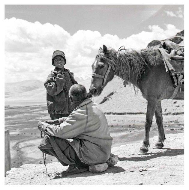 twee mannen en een paard