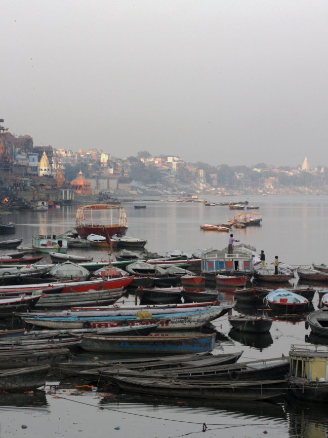 uitzicht op de Ganges