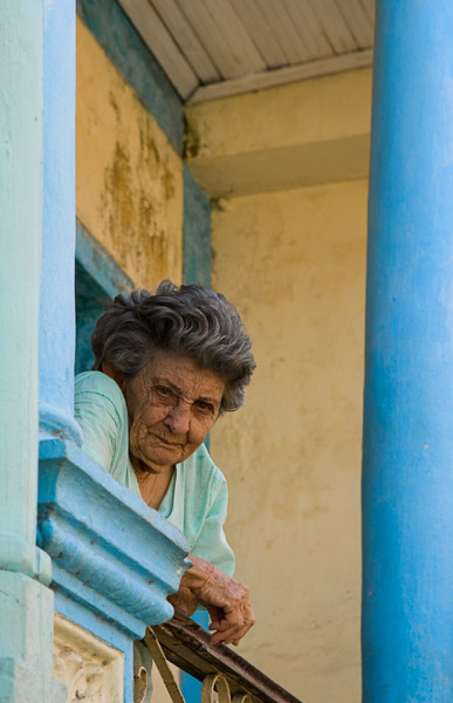 Grandma on the look out