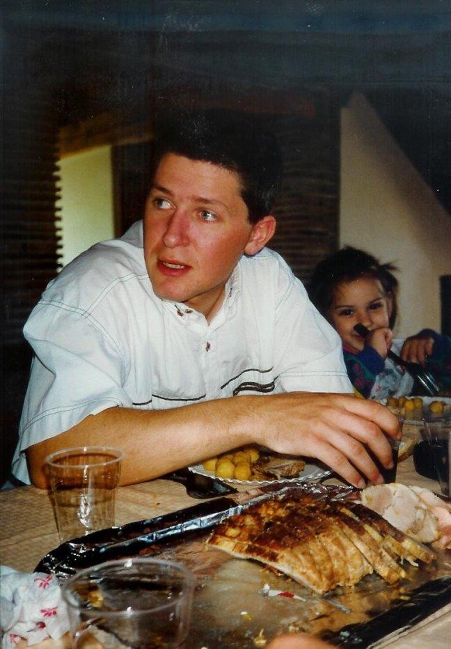 1991: Monclar d'Agenais: a table, bon a petit.