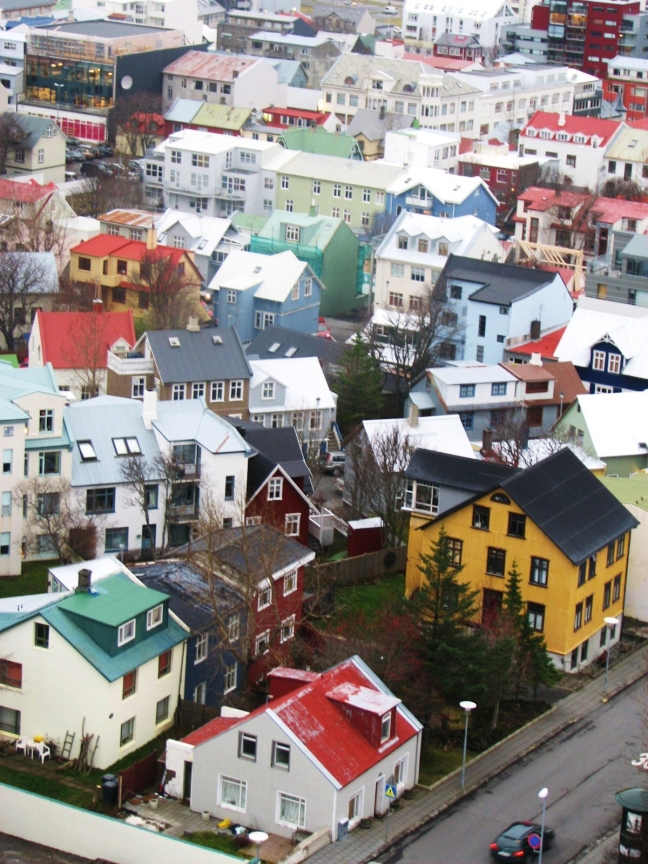 reykjavik from cathedral