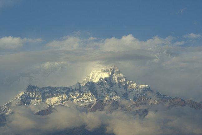 Uitzicht op Annapurna massief