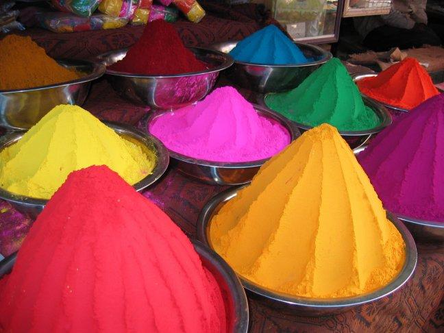 Kleurrijke poeder