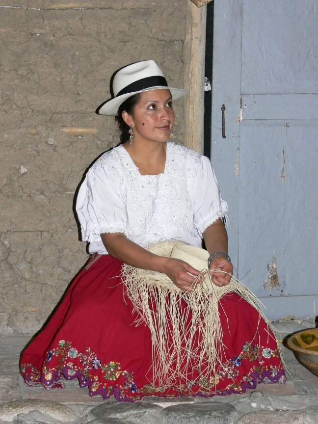 de Panama hoed wordt in Cuenca gemaakt
