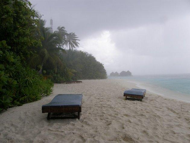 Een tropische regenbui