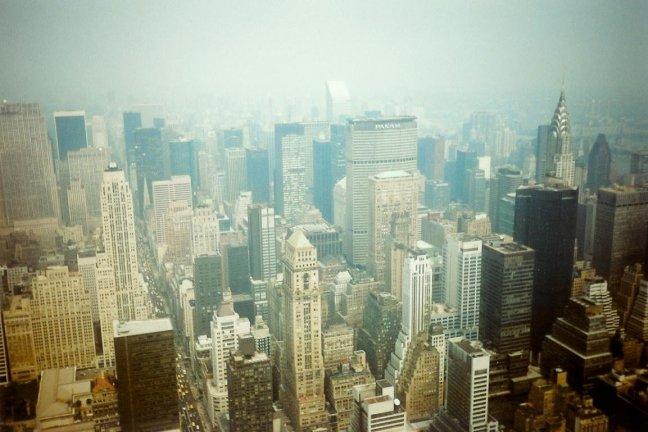 1990: NY: van hoog uit de lucht.