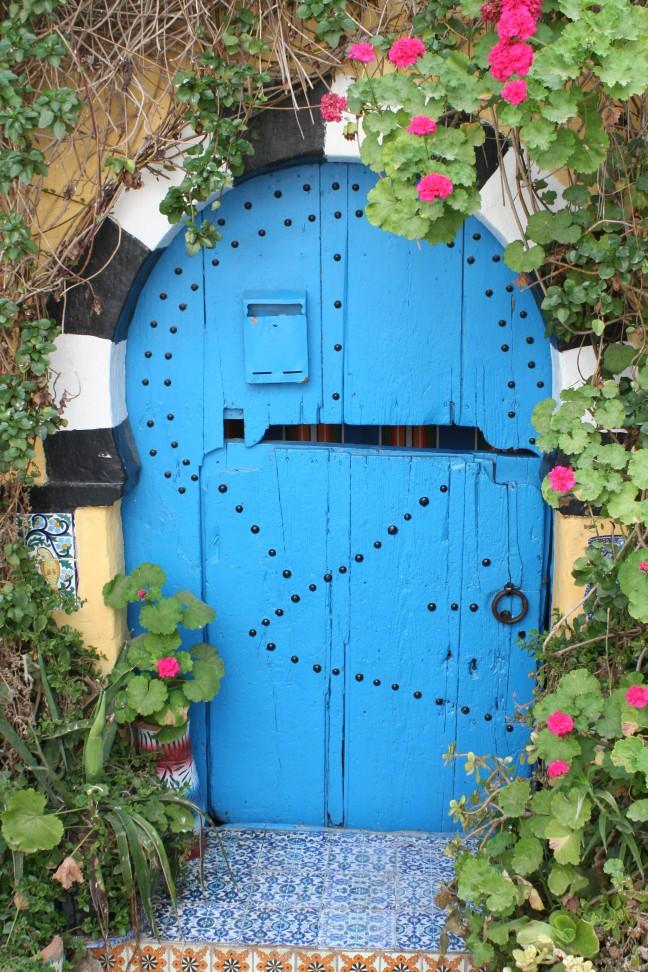 Blauwe deur in Sidi Bou Said