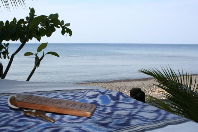 Uitzicht vanaf strand Amed