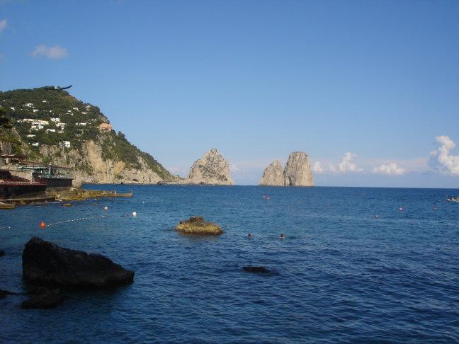 uitzicht vanaf het eiland Capri