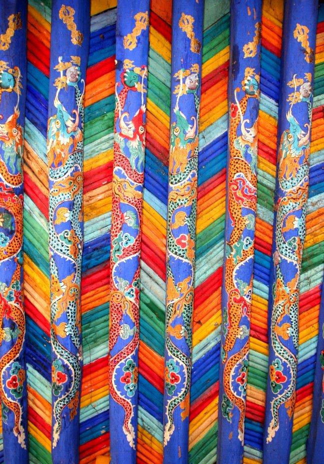 Mooi plafond met kleurtjes Lhasa