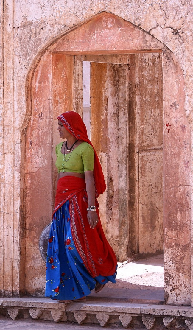 Vrouw in Amber Fort