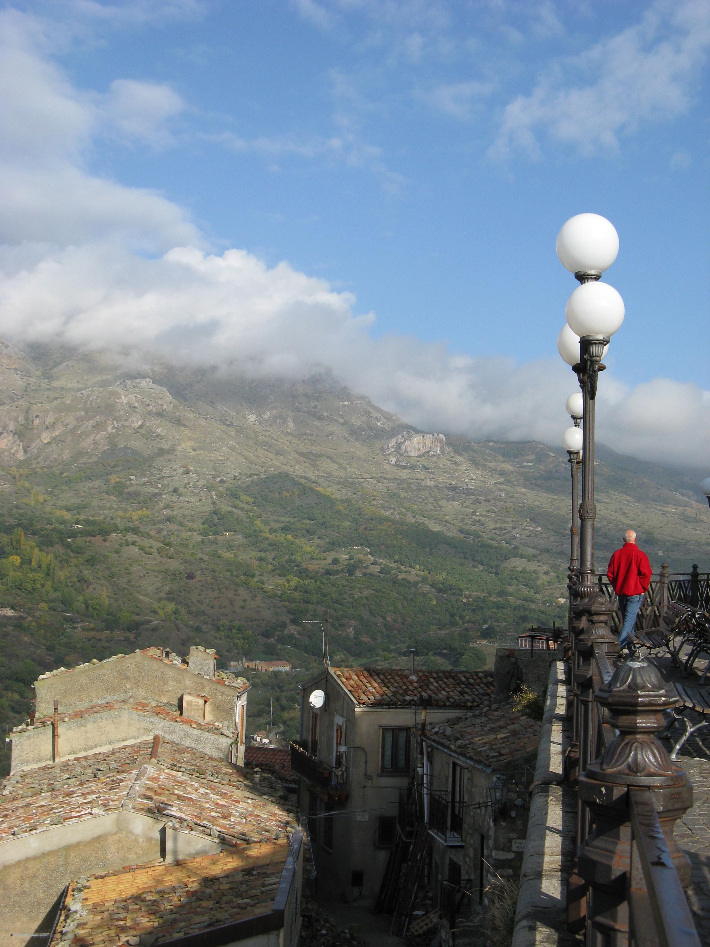 uitzicht vanaf het stadje Petralia Sottano