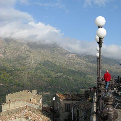 Voorvertoning uitzicht vanaf het stadje Petralia Sottano