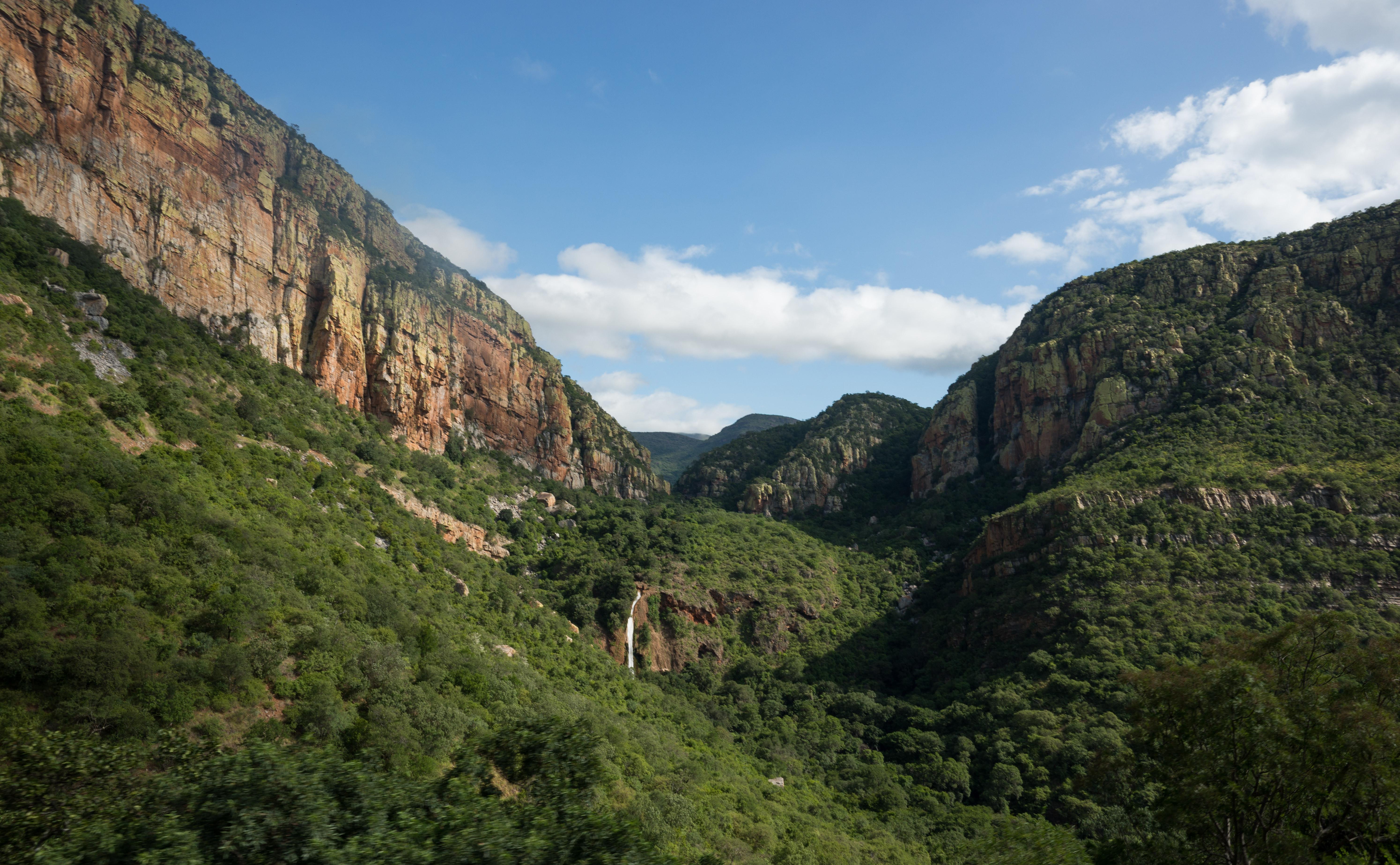 Een van de vele mooie uitzichten langs de route