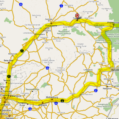 Voorvertoning Route Johannesburg, Tzaneen, Krugerpark, hazyview, Pretoria