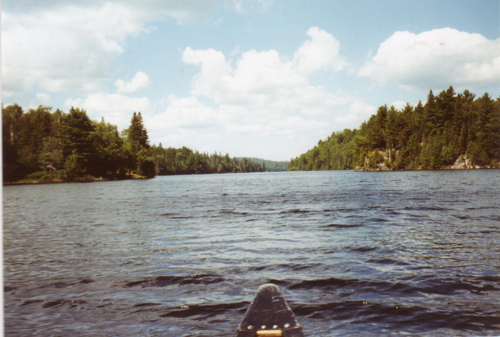 uitzicht vanuit de kano