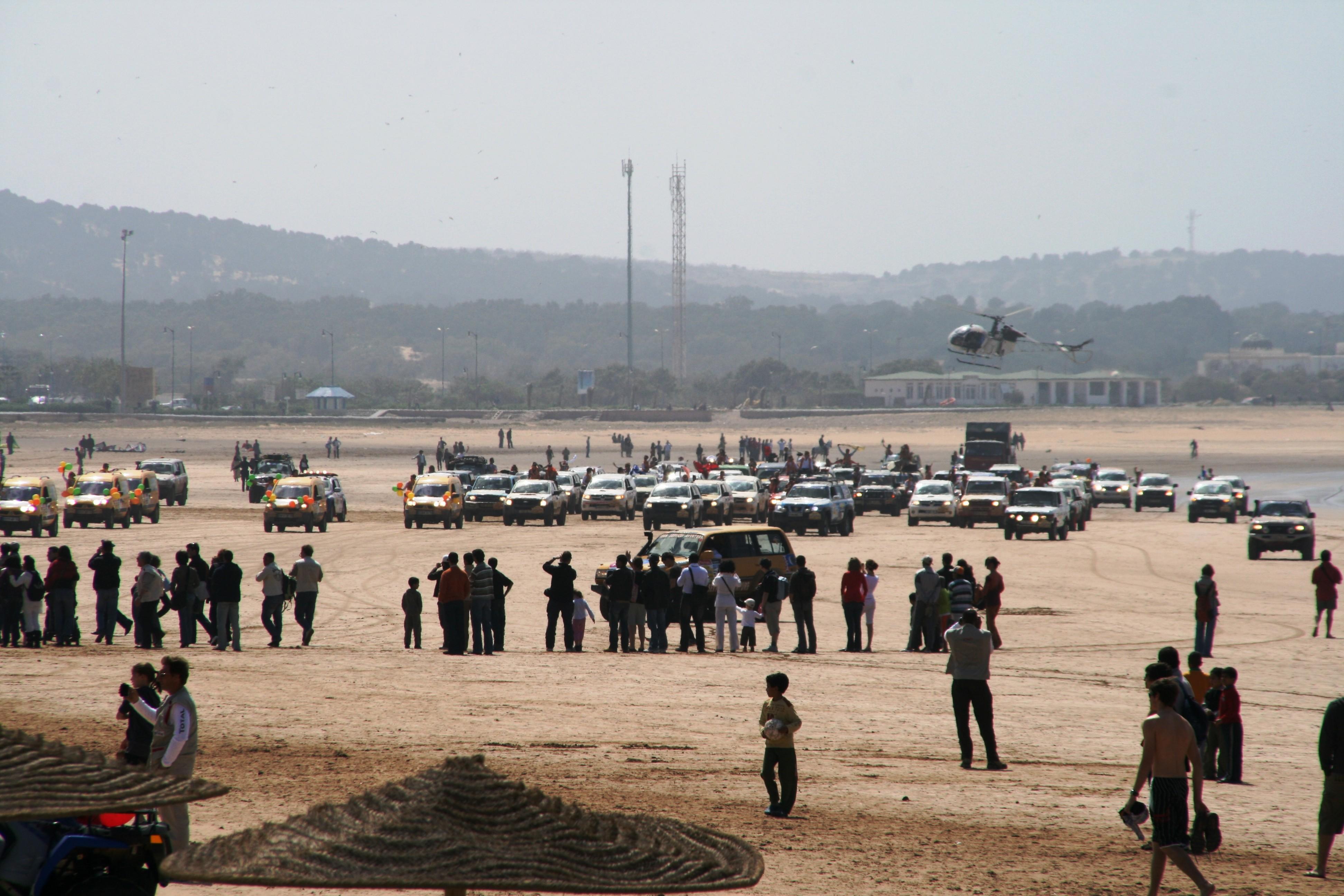 De Rallye Gazelles des Aicha eindigt op het strand van Essaouira