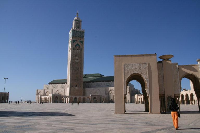 De grote moskee in Casablanca