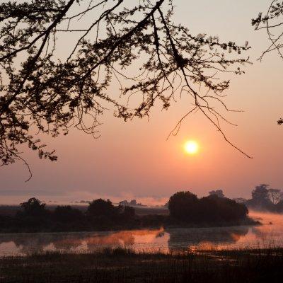 Voorvertoning Uitzicht vanaf de kampeerplaats op de Kafue River...
