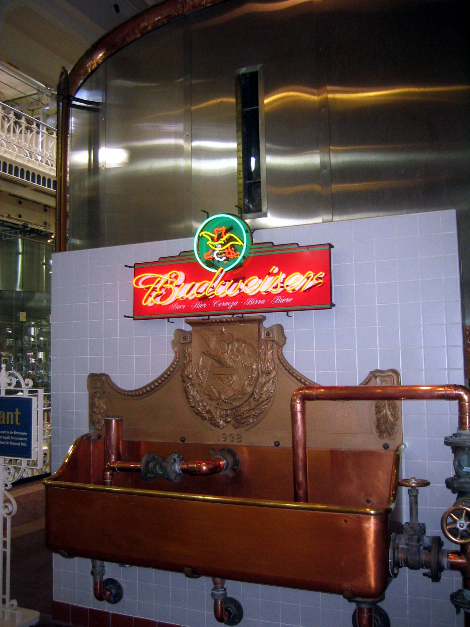 Binnenin de brouwerij