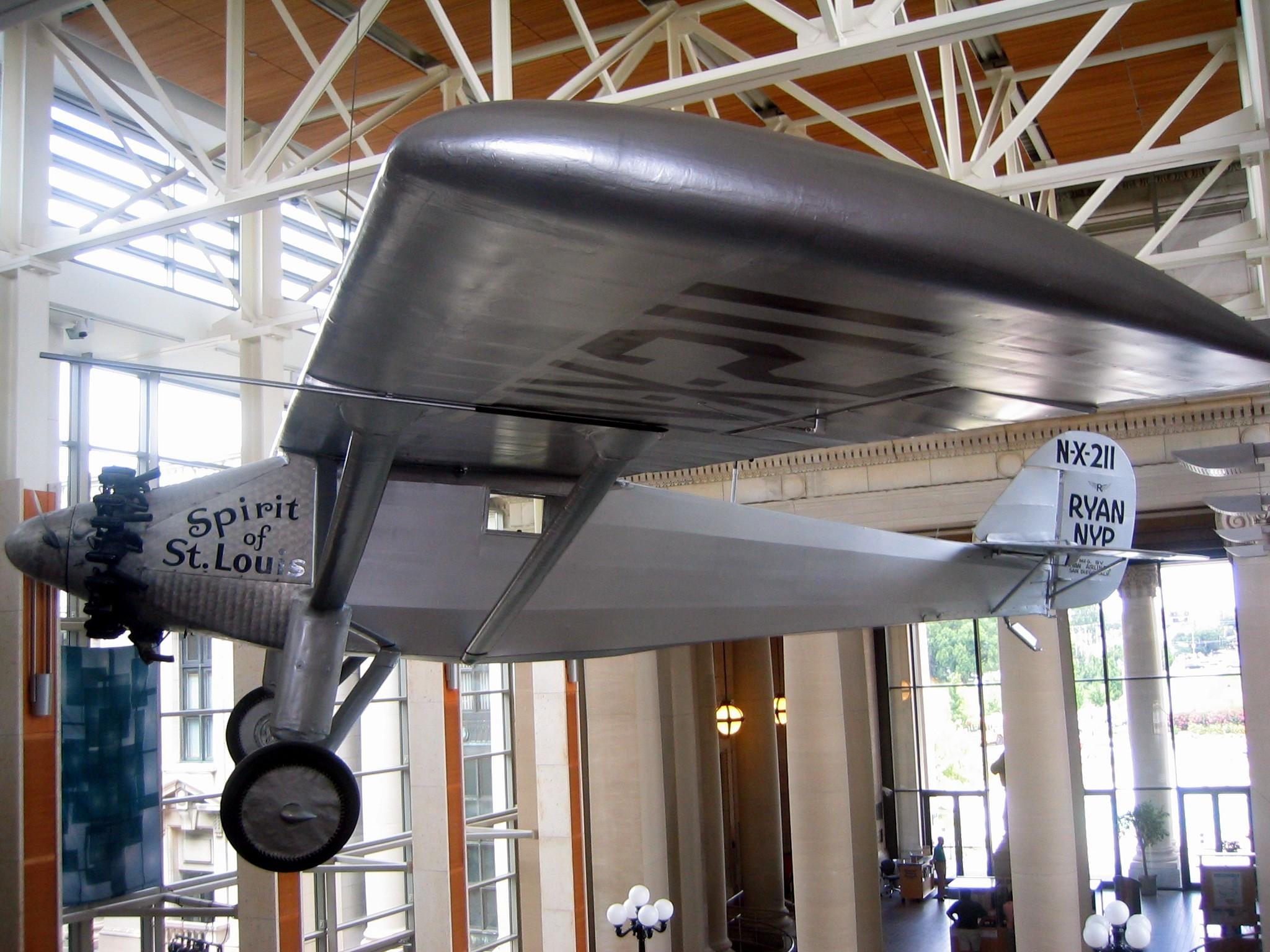Het vliegtuig van Charles Lindberg