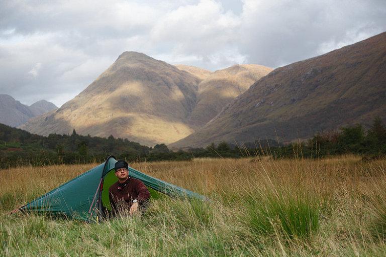 kamperen in de highlands (zelfportret)