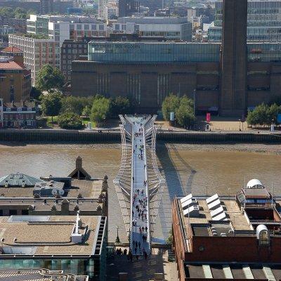 Voorvertoning Millennium Bridge en Tate Modern.