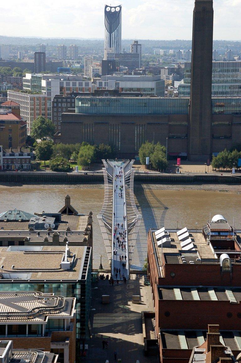 Millennium Bridge en Tate Modern.