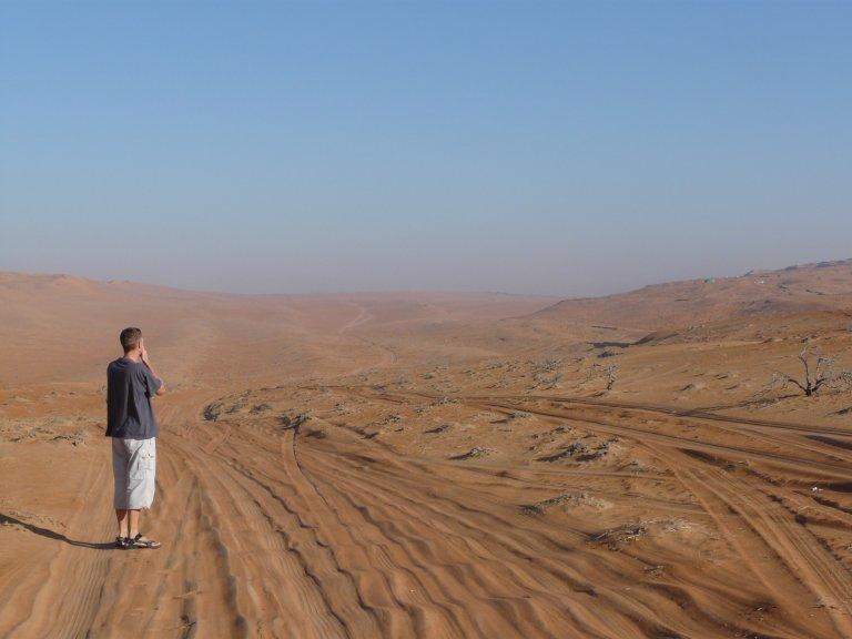 Eindeloze desert, indrukwekkend