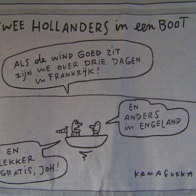 Voorvertoning lekker gratis joh...  Toen vanwege de reacties van de hollanders op de belgische plannen voor een vignet voor gebruik van de snelwegen.