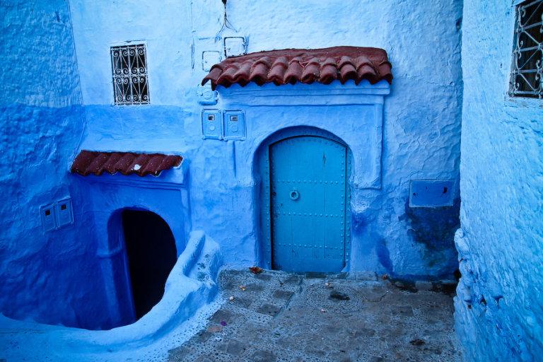 Al gauw is duidelijk waarom Chefchaouen ook wel de blauwe stad wordt genoemd.