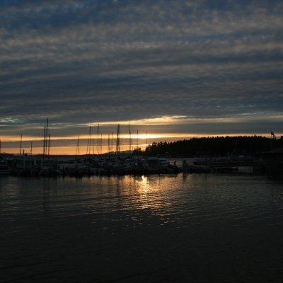 Voorvertoning De haven van Lund, ook bij zons ondergang