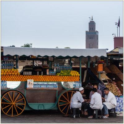 Voorvertoning Djamaa El-Fna, Marrakech