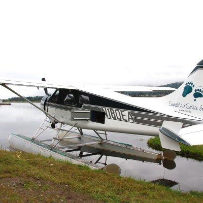 Voorvertoning Watervliegtuig van Emerald Air waar je met maximaal 7 passagiers in 1 uur vliegt naar Katmai NP.