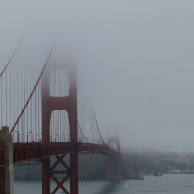 Voorvertoning Golden Gate Bridge met mist