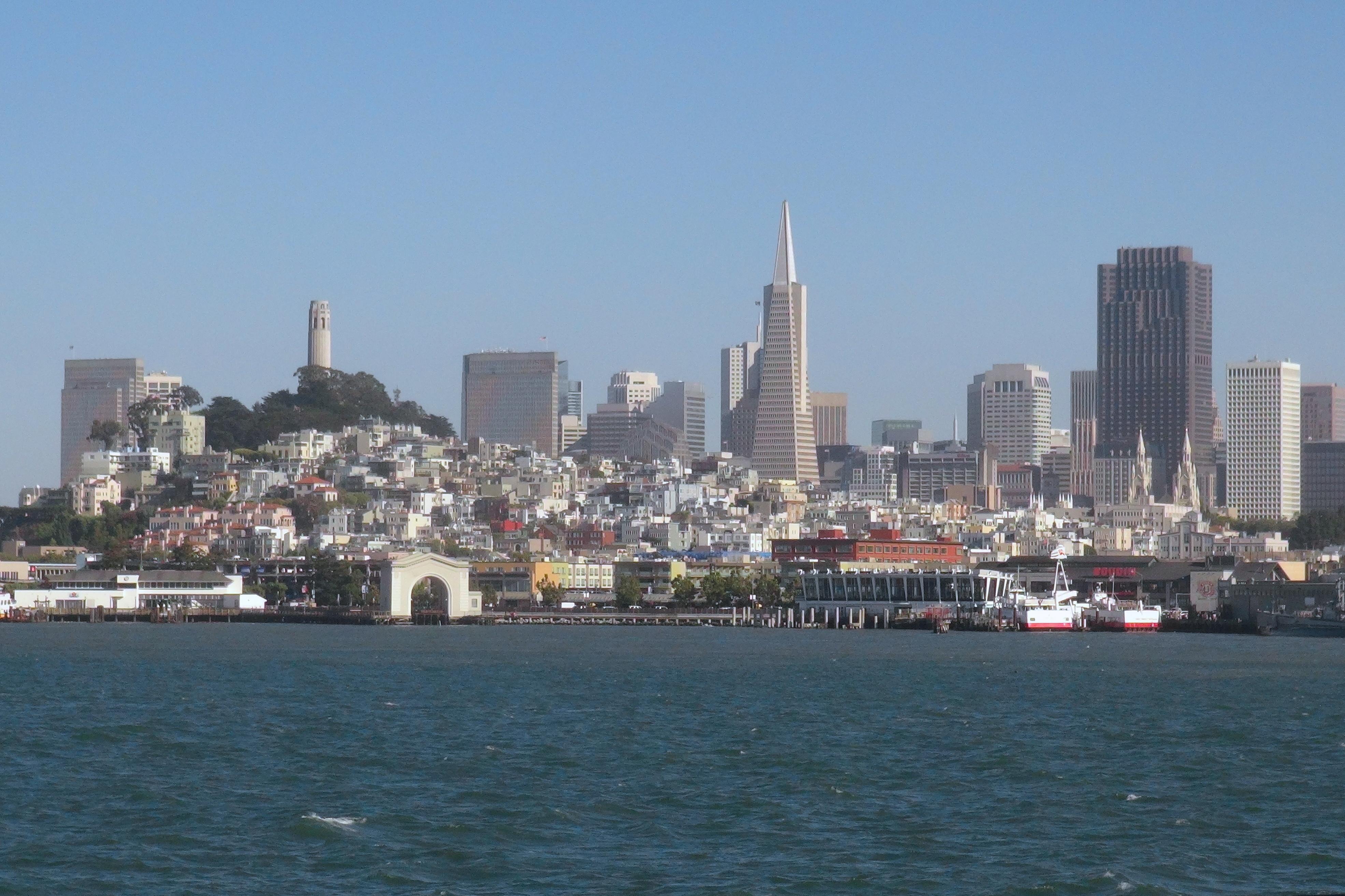 Uitzicht op San Francisco vanaf Alcatraz